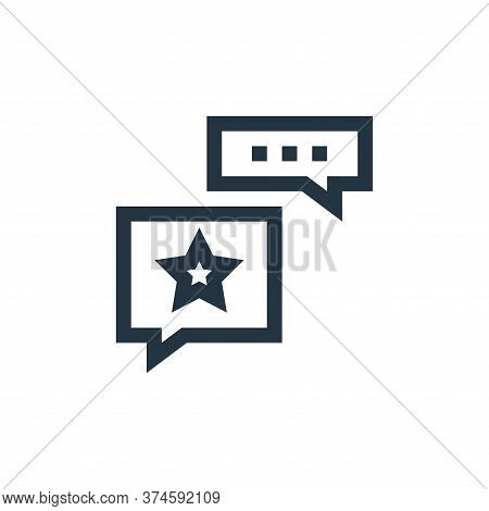 opinion icon isolated on white background from feedback and testimonials collection. opinion icon tr