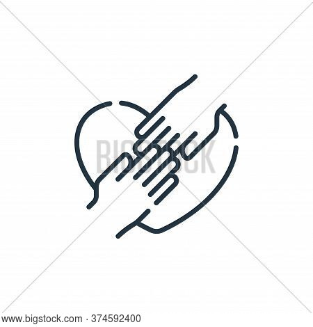 hands icon isolated on white background from hope collection. hands icon trendy and modern hands sym