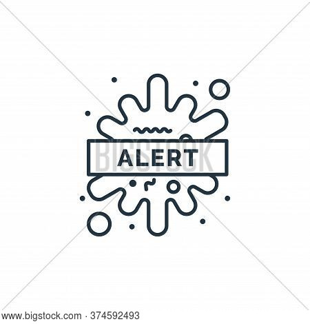 alert icon isolated on white background from coronavirus collection. alert icon trendy and modern al