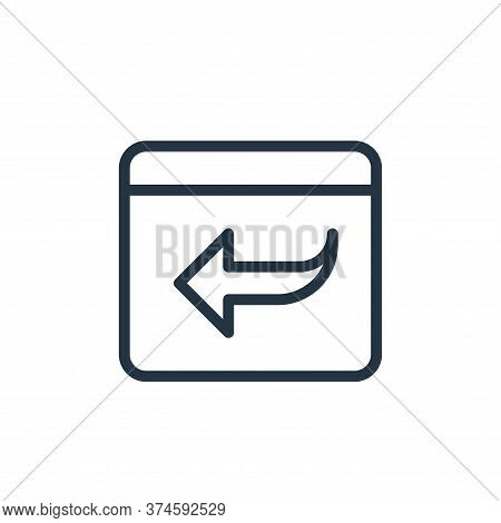 back icon isolated on white background from data transfer collection. back icon trendy and modern ba