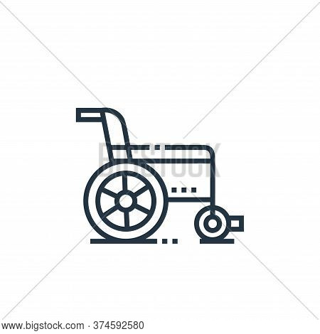 wheelchair icon isolated on white background from medical services collection. wheelchair icon trend