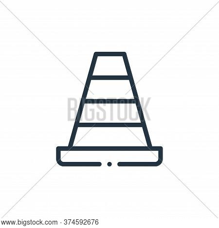 cone icon isolated on white background from plastic products collection. cone icon trendy and modern