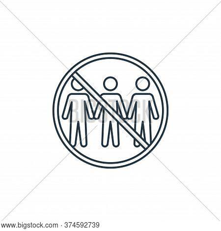 quarantine icon isolated on white background from coronavirus covid collection. quarantine icon tren