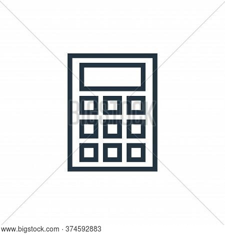 calculate icon isolated on white background from education collection. calculate icon trendy and mod