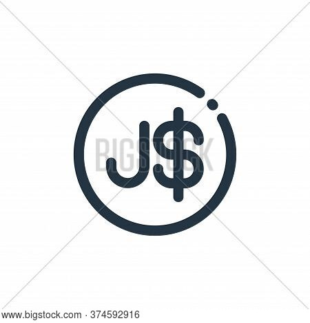 dollar sign icon isolated on white background from currency collection. dollar sign icon trendy and
