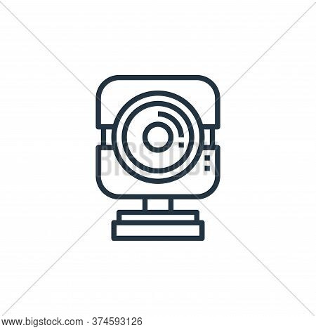 web camera icon isolated on white background from work from home collection. web camera icon trendy