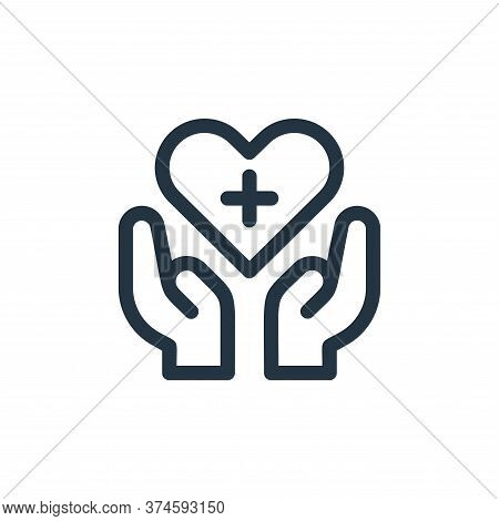 healthcare icon isolated on white background from medical tools collection. healthcare icon trendy a