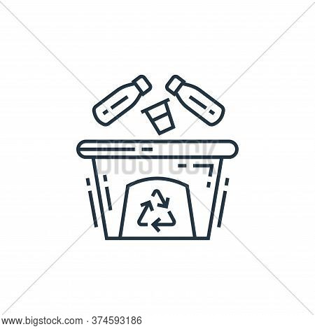 trash bin icon isolated on white background from environment and eco collection. trash bin icon tren
