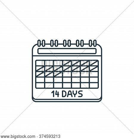 calendar icon isolated on white background from coronavirus covid collection. calendar icon trendy a