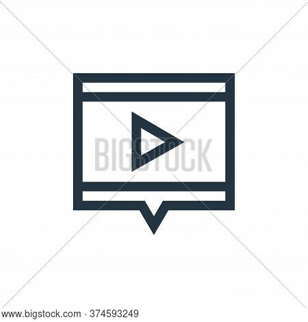 video marketing icon isolated on white background from marketing and growth collection. video market
