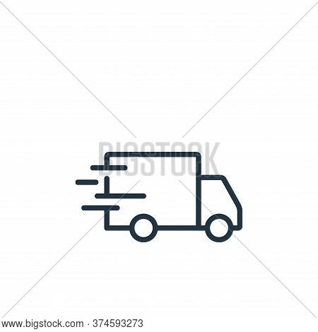 delivery truck icon isolated on white background from ecommerce collection. delivery truck icon tren