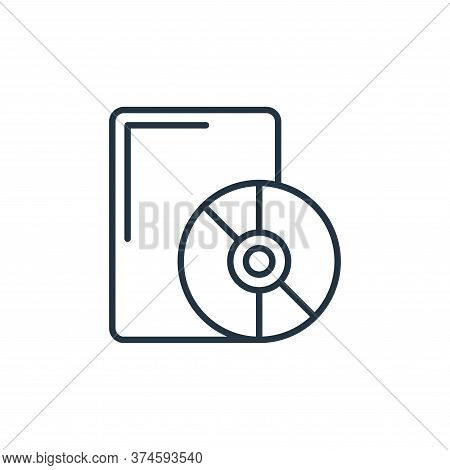 dvd icon isolated on white background from cinema collection. dvd icon trendy and modern dvd symbol