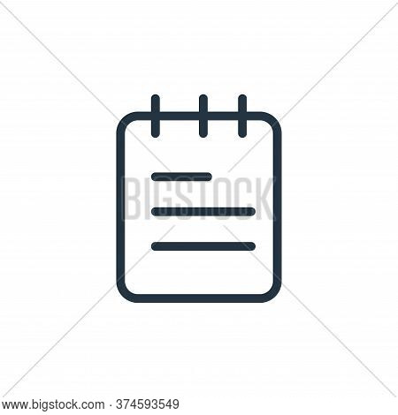 notes icon isolated on white background from work office supply collection. notes icon trendy and mo
