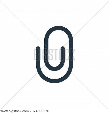paper clip icon isolated on white background from user interface collection. paper clip icon trendy