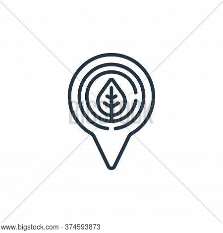 location icon isolated on white background from smart farm collection. location icon trendy and mode