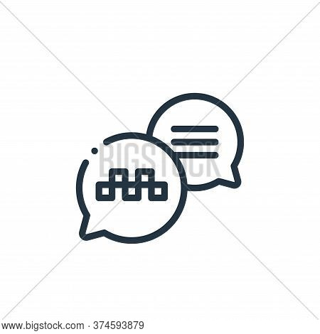 conversation icon isolated on white background from taxi service collection. conversation icon trend