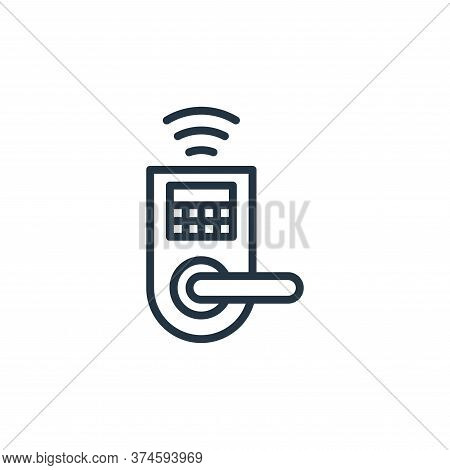 door lock icon isolated on white background from internet of things collection. door lock icon trend