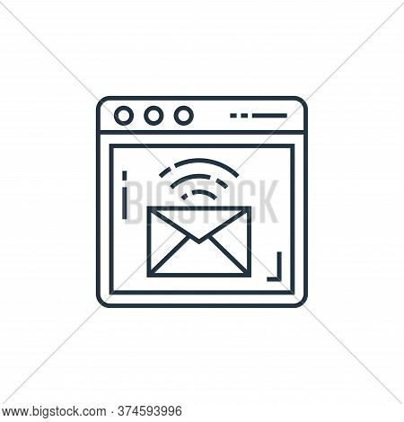 email icon isolated on white background from technology devices collection. email icon trendy and mo