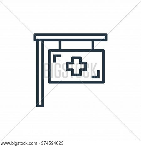 hospital icon isolated on white background from hospital collection. hospital icon trendy and modern