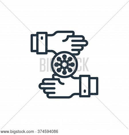 touching icon isolated on white background from coronavirus collection. touching icon trendy and mod