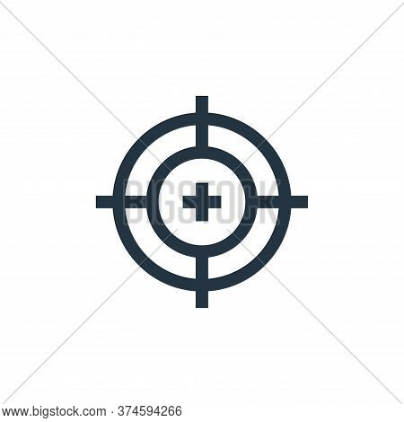 target icon isolated on white background from video game elements collection. target icon trendy and