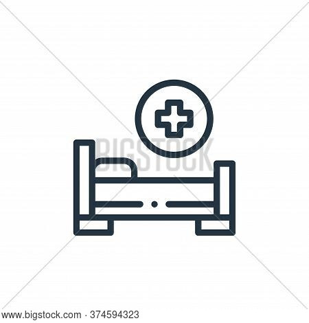 hospital bed icon isolated on white background from medicine collection. hospital bed icon trendy an