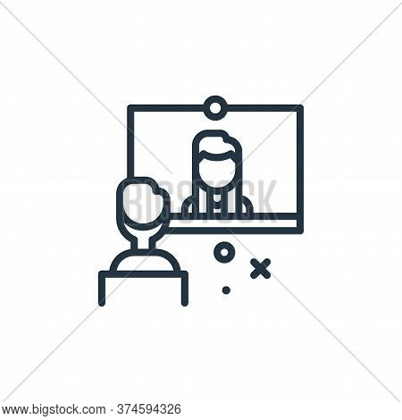 video conference icon isolated on white background from work from home collection. video conference