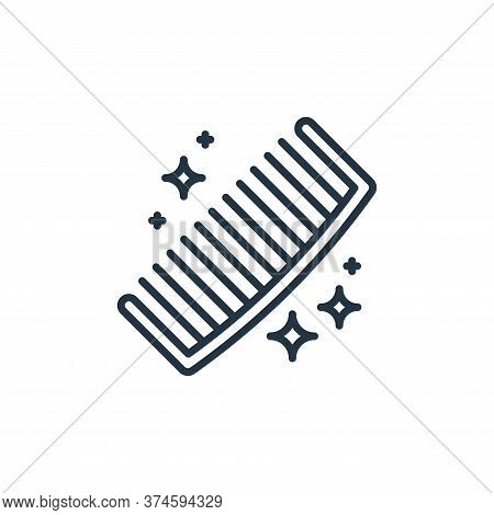 comb icon isolated on white background from hygiene routine collection. comb icon trendy and modern