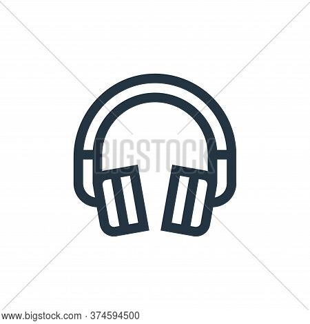 headphone icon isolated on white background from electronics collection. headphone icon trendy and m