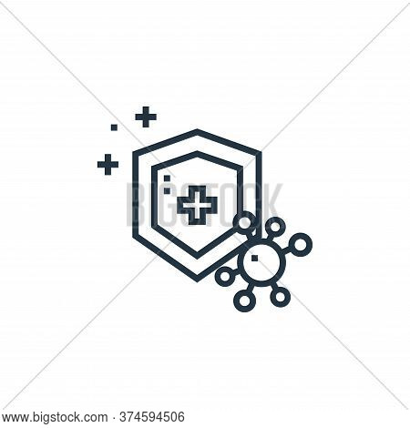 immune system icon isolated on white background from medical services collection. immune system icon