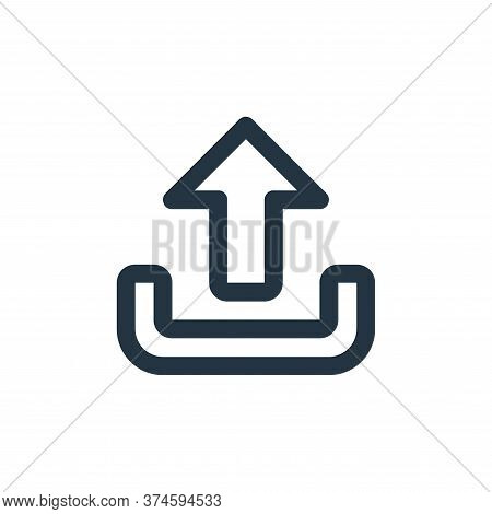 upload icon isolated on white background from user interface collection. upload icon trendy and mode