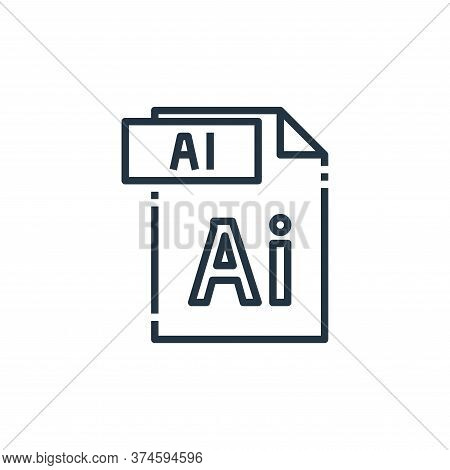 ai file icon isolated on white background from file type collection. ai file icon trendy and modern