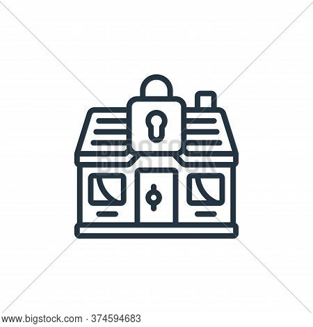 stayhome icon isolated on white background from self isolation collection. stayhome icon trendy and