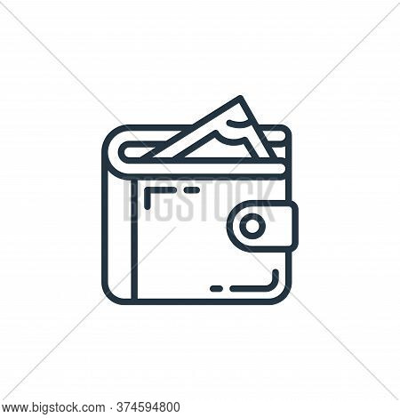 wallet icon isolated on white background from money and currency collection. wallet icon trendy and