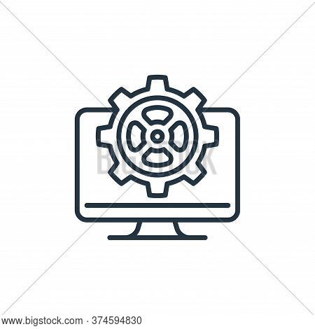 web management icon isolated on white background from management collection. web management icon tre