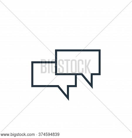 chat icon isolated on white background from school collection. chat icon trendy and modern chat symb