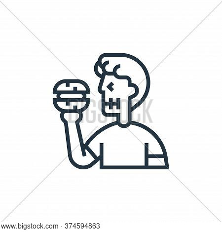 banned food icon isolated on white background from fitness collection. banned food icon trendy and m