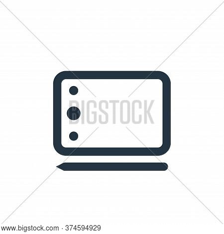 drawing tablet icon isolated on white background from electronic and device collection. drawing tabl
