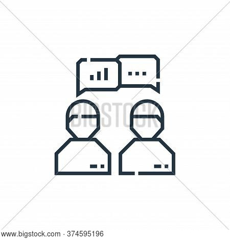 discussion icon isolated on white background from marketing collection. discussion icon trendy and m