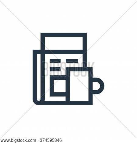 newspaper icon isolated on white background from hobbies collection. newspaper icon trendy and moder