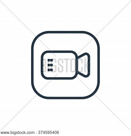 video camera icon isolated on white background from hardware and gadgets collection. video camera ic