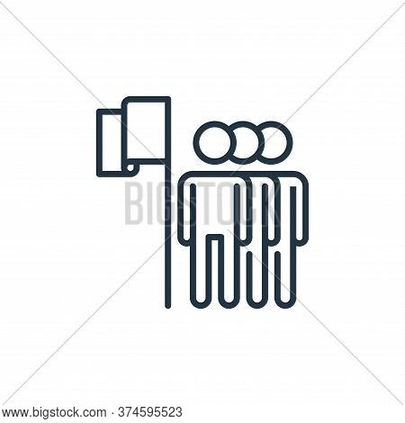 leadership icon isolated on white background from management collection. leadership icon trendy and