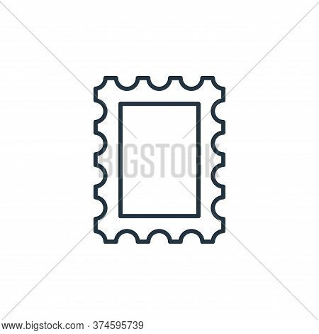 postage stamp icon isolated on white background from stationery collection. postage stamp icon trend
