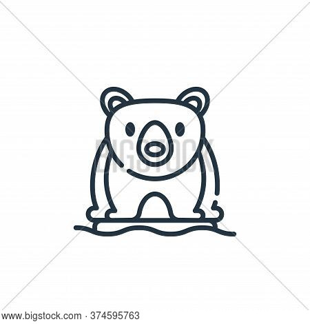 polar bear icon isolated on white background from climate change collection. polar bear icon trendy