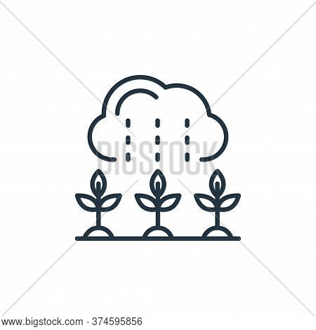 rain icon isolated on white background from smart farm collection. rain icon trendy and modern rain