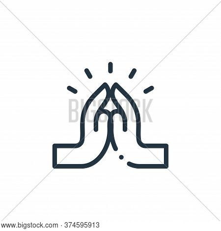 pray icon isolated on white background from world love collection. pray icon trendy and modern pray