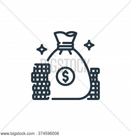 money bag icon isolated on white background from banking and money collection. money bag icon trendy