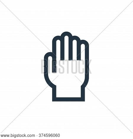 rubber gloves icon isolated on white background from pharmacy collection. rubber gloves icon trendy