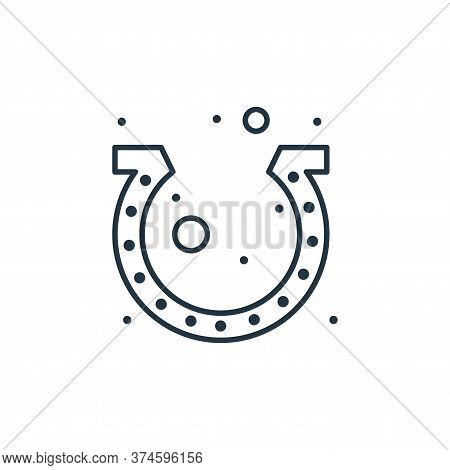 horseshoes icon isolated on white background from saint patrick collection. horseshoes icon trendy a