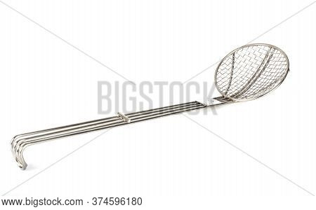 Spoon Skimmer In Front Of White Background
